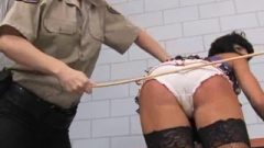 Prisoners Watch New Girl Get Humiliating Caning