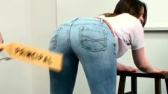School Paddling Over Jeans