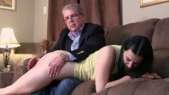 Daddy Removes Lexi's PJ Bottoms And Gives Her A Raw Bare Bottom Spanking