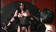 Lesbian Mistress Spanking Her Slavegirl