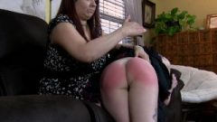 Fashion Model Gets A Bare Bottom Spanking From Her Mom