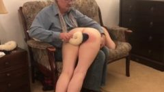 Miss Gets Over The Knee Spanking For Over Spending