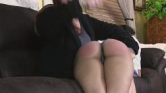 Kitty Gets Her Second Bare Bottom Spanking Of The Day From Her Mother