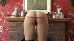 Amelia Rutherford – Caned Butt Spanking
