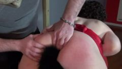 Young Submissive PAWG Takes Ass-Hole Plug-Dom Spanks Her-Shoves Cock Down Throat