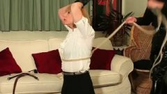 Master Turns Blonde Ladyboy Slave Suzie Into Dick Blowing Spunk Bitch After Her Butt Spanking Punishment