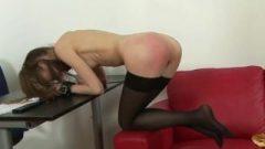 Spanked Slim Secretary
