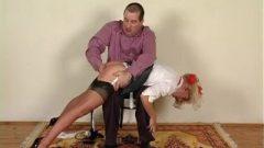 Passion Uk School Girl Spanked In Seamed Stockings Scene 2