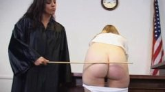 Chick Receives Spanked By The Judge