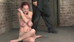 Whore With Big Breasts In Hardcore Bondage Punished, Spanked N Pinched Limit