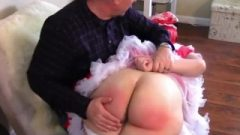 Lily Spanked Otk&on Her Barebottom By Her Daddie For Not Listening