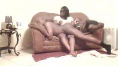 Lashonda Gives Don A Raw Belt Spanking Over The Knee Scene 2