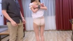 Chinese Female In White Ankle Socks Tied Up, Spanked And Vibed