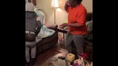 Chick Takes A Cloth Belt Spanking For Not Listening