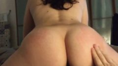 Huge Ass Chick Riding Dick And Getting Spanked