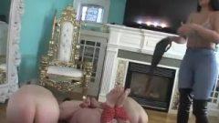 Goddess Jasmine Spanking Her 2 Petite Slaves