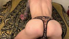 Slut Boy Takes Spanked While Wearing Thong