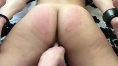 Fingering And Spanking My Cuffed Nubile Fuck Dildo