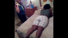 Leshanda Receives Spanked On The Bed For Wearing Dress Shorts To Church