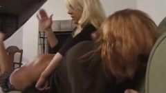 Inviting Redhead Sabrina Spanked On Couch