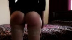 Cute Round Bubble Ass Spanked