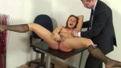 Sensuous Redhead Getting Her Spanking