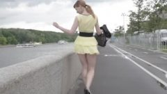 Jeny Smith Public Flasher Shares Awesome Upskirt Views On The Streets