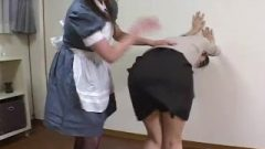 Nippon Maid And Mistress Spank Each Other