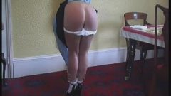 Two Teens Spanked,strapped,and Caned On Their Barebottoms By Nasty Teacher