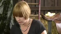 Sally Wedgie Spanked&on Her Barebottom For Jerking In The Barn