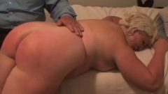 Juicy Fair-haired Servant Takes Her Well-deserved Bedtime Spanking