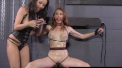 Tied Up Honey Kendra James Dominated By Crazy Angela Sommers!